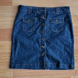 Insider denim button down pencil skirt sz 10